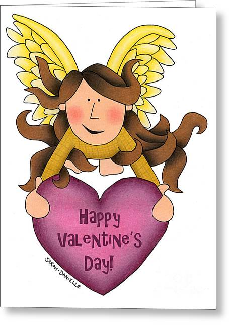 From The Heart- Happy Valentine's Day Cards Greeting Card by Sarah Batalka