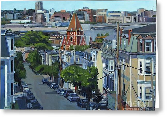 From The Heights To Boston Greeting Card