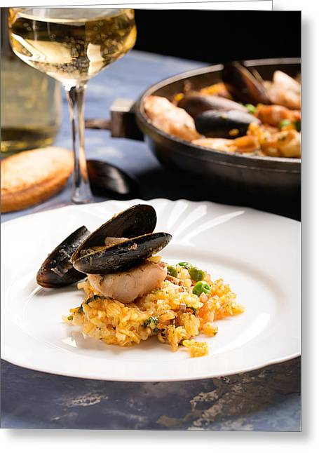 From The Home Of Paella Greeting Card by Vadim Goodwill