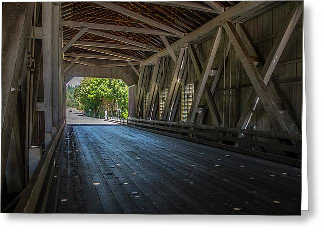 From The Inside Looking Out - Shimanek Bridge Greeting Card