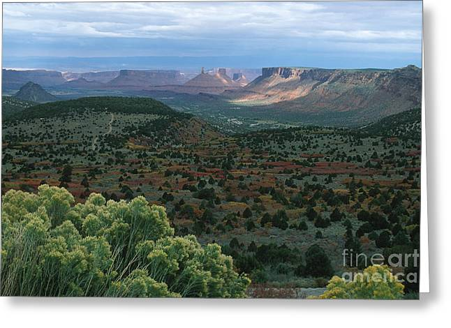 From The La Sal Mountains Greeting Card by Stan and Anne Foster