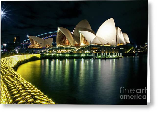 From The Other Side - Sydney Opera House - Vivid Sydney Greeting Card