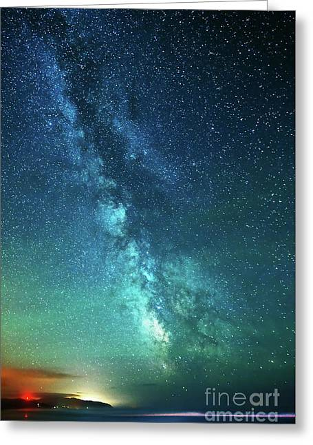 From The Pacific To The Milky Way Greeting Card by Tim Moore