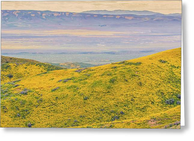 Greeting Card featuring the photograph From The Temblor Range To The Caliente Range by Marc Crumpler