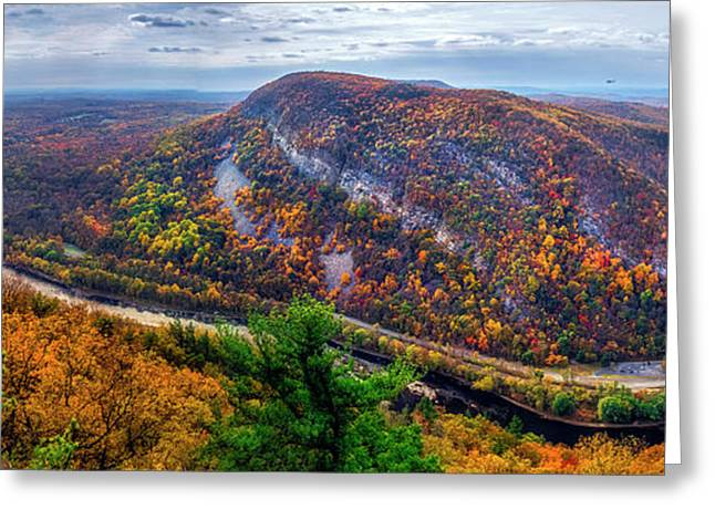 Greeting Card featuring the photograph From The Top Of Mount Tammany by Mark Papke