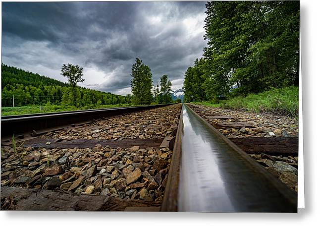 Greeting Card featuring the photograph From The Track by Darcy Michaelchuk