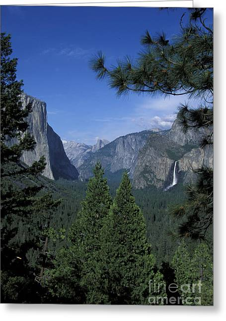 Greeting Card featuring the photograph From Tunnel View In Spring by Stan and Anne Foster
