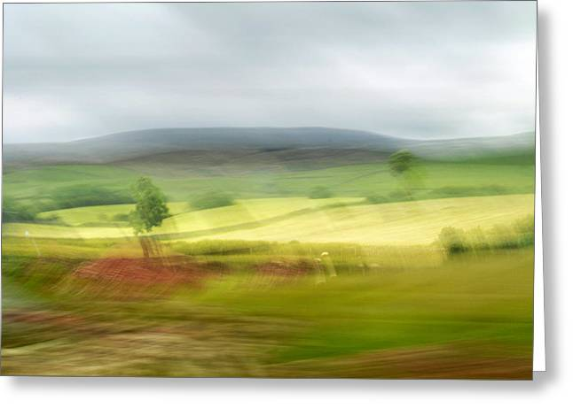 heading north of Yorkshire to Lake District - UK 1 Greeting Card