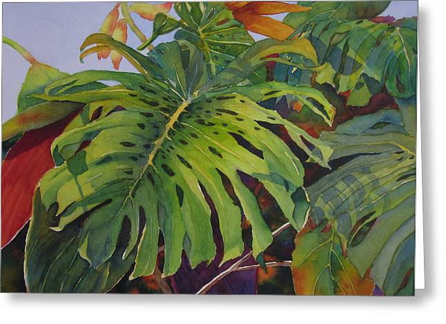 Fronds And Foliage Greeting Card