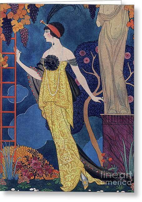 Front Cover Of Les Modes Greeting Card by Georges Barbier