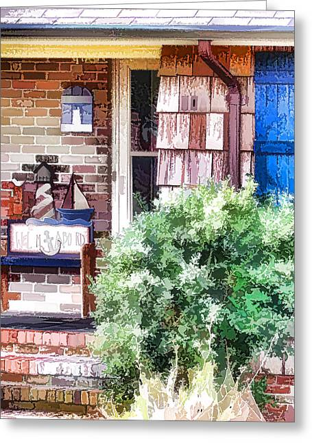 Front Door Greeting Card by Lanjee Chee
