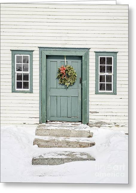 Front Door Of An Old Colonial Home Greeting Card