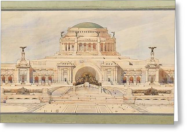 Front Elevation For A Monument To The Unknown Soldier, Antonio Sciortino Greeting Card