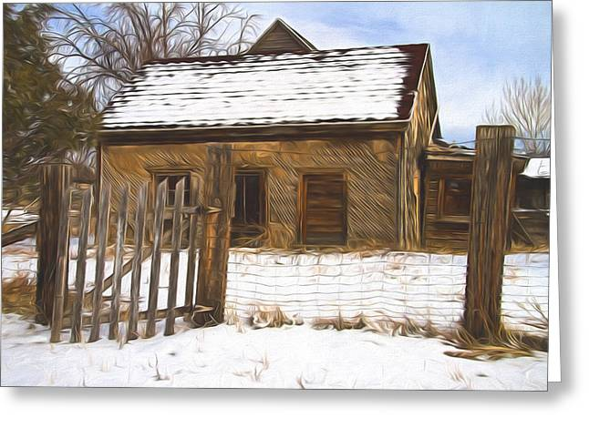 Pioneer Home Painterly Impression Greeting Card