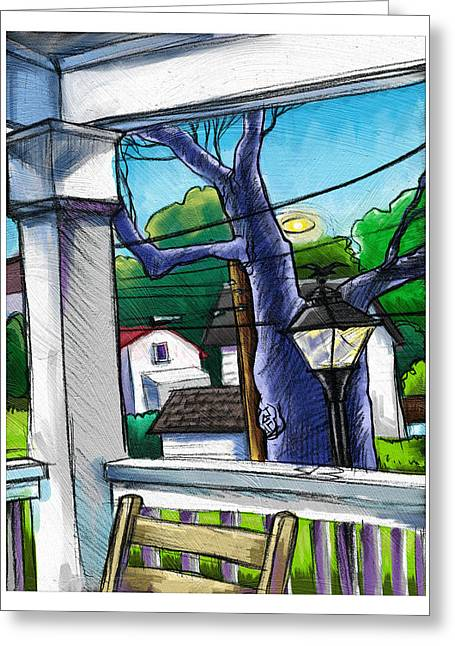 Front Porch Greeting Card by Baird Hoffmire