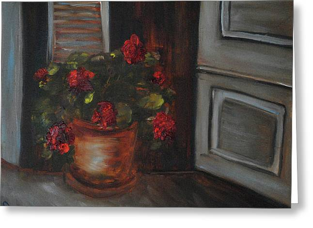 Front Porch Flowers Greeting Card