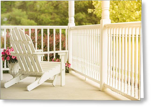 Front Porch In Summer Greeting Card