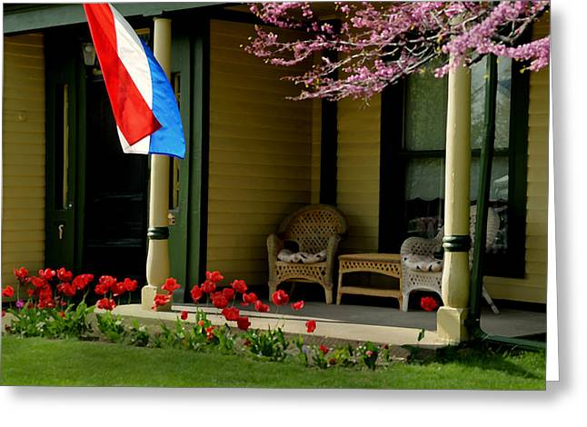 Front Porch Greeting Card by Lyle  Huisken