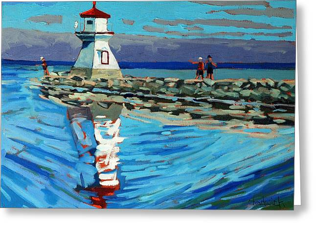 Front Range Light Greeting Card by Phil Chadwick