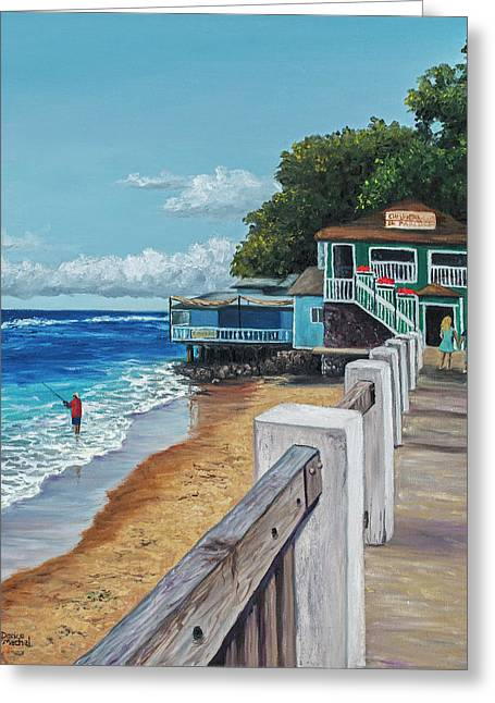 Front Street Lahaina Greeting Card