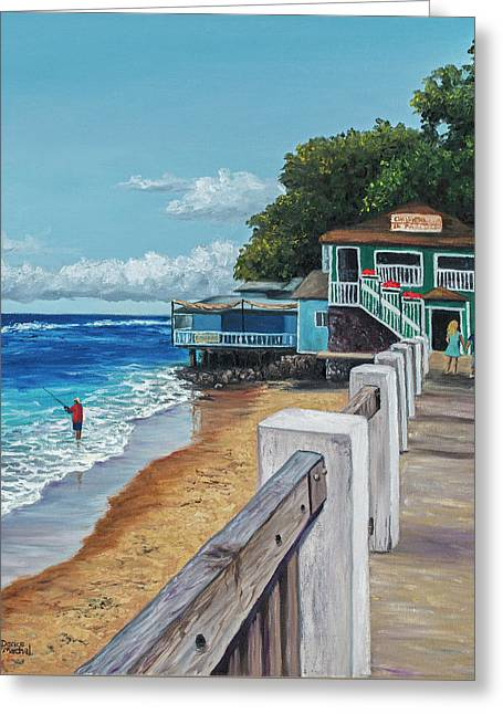 Greeting Card featuring the painting Front Street Lahaina by Darice Machel McGuire
