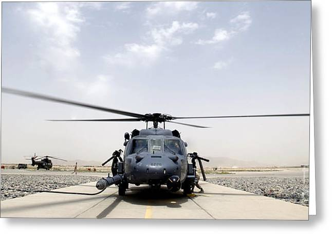 Front View Of An Hh-60 Pave Hawk Greeting Card