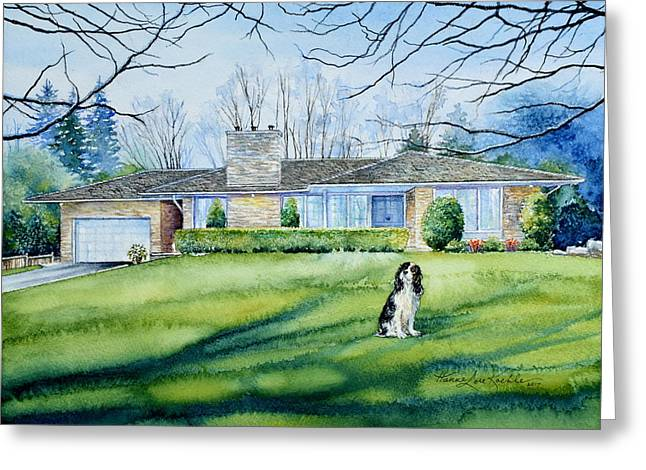 Front Yard Protection Greeting Card by Hanne Lore Koehler