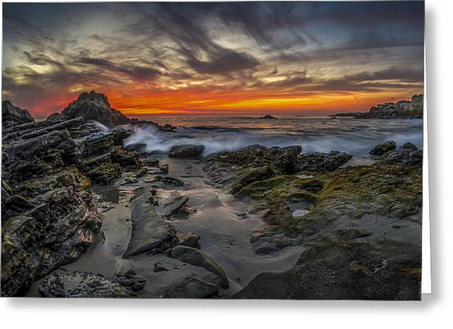 Front Yards Of Laguna Beach Greeting Card by Sean Foster