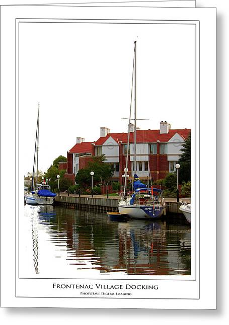 Frontenac Village Docking Greeting Card