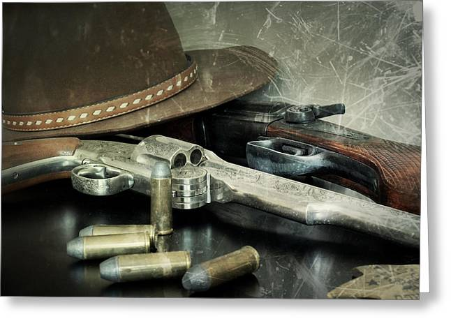 Frontier Lawman Guns Greeting Card