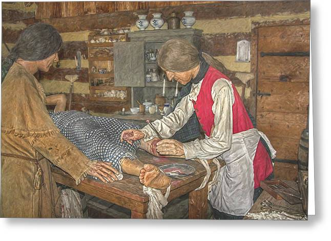Powder Greeting Cards - Frontier Surgery Greeting Card by Randy Steele