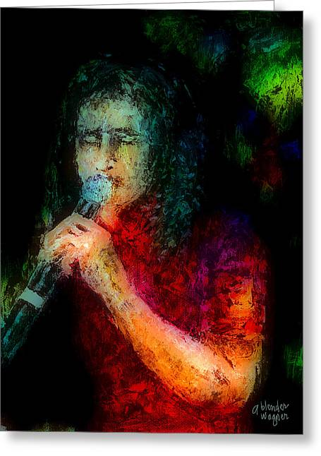 Frontman Greeting Card by Arline Wagner