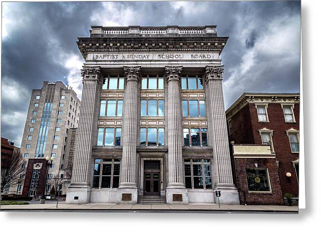 Frost Building - Baptist Sunday School Board Greeting Card by Stephen Stookey