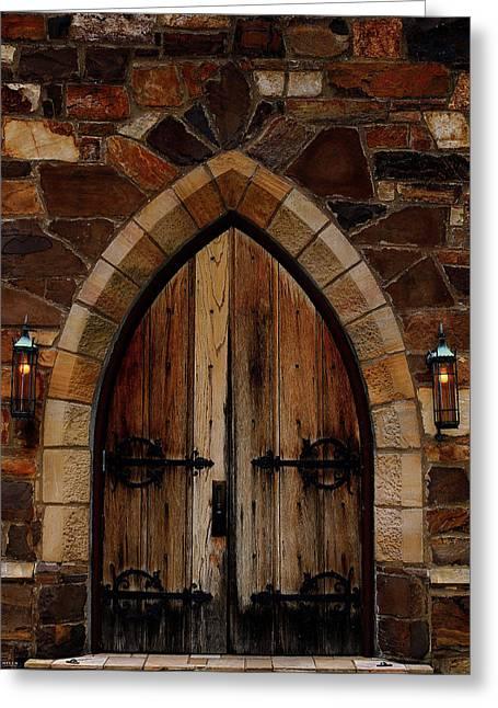 Frost Chapel Doorway Greeting Card by Jason Blalock