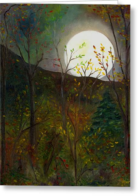 Frost Moon Greeting Card