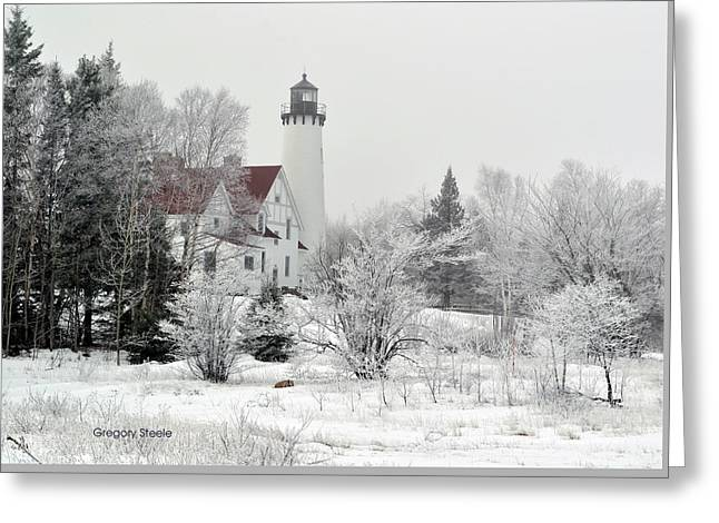 Frosted Lighthouse Greeting Card