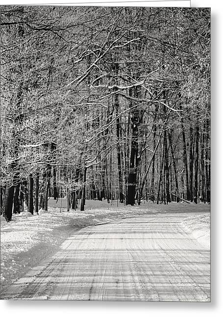 Frosted Steps Greeting Card