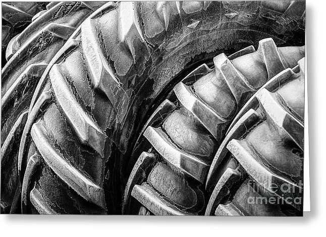 Frosted Tires Greeting Card