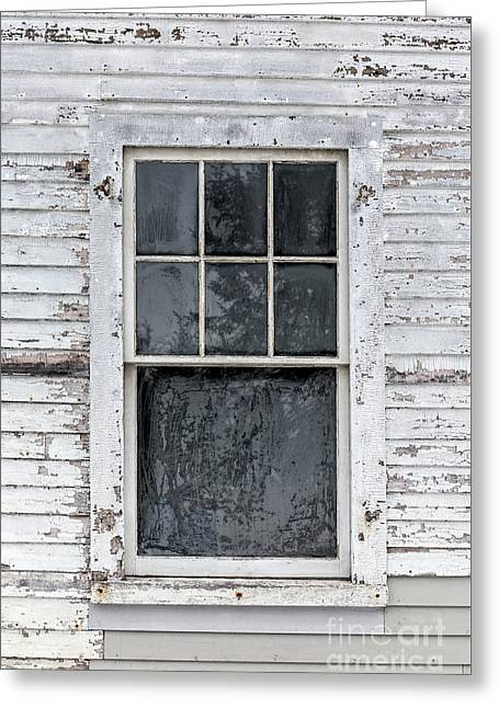 Frosted Window On An Old House Greeting Card by Edward Fielding