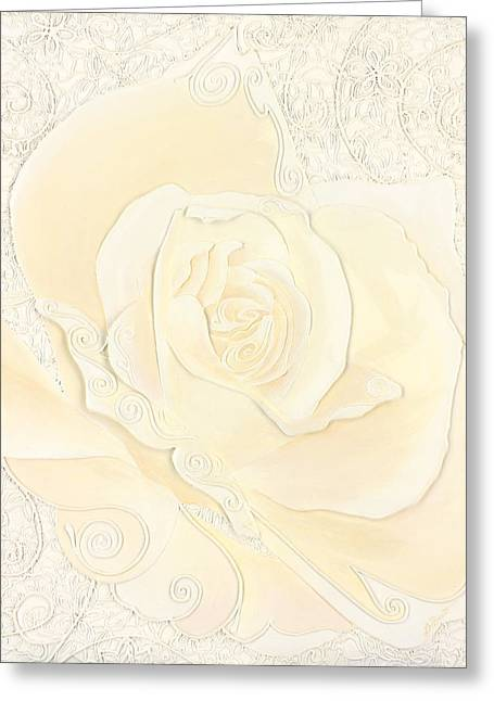 Frosting Greeting Card by Linda Bassett