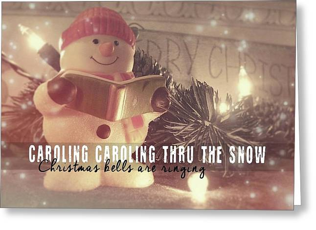 Frosty Caroler Greeting Card by JAMART Photography
