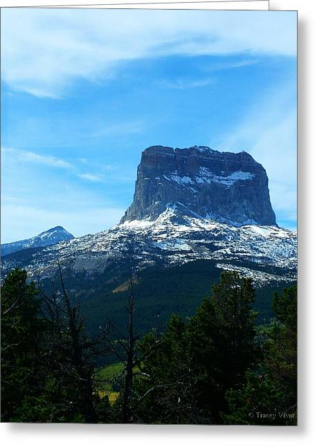 Frosty Chief Mountain Greeting Card