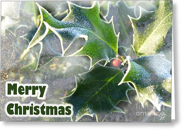 Greeting Card featuring the photograph Frosty Holly by LemonArt Photography