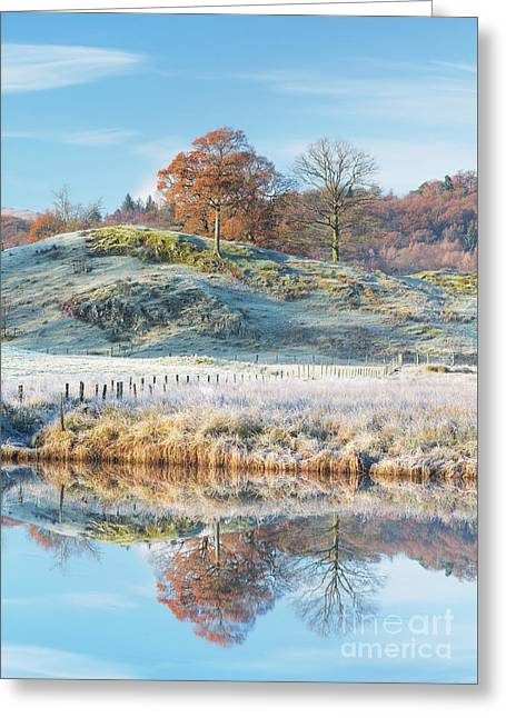 Frosty Landscape Elterwater Greeting Card
