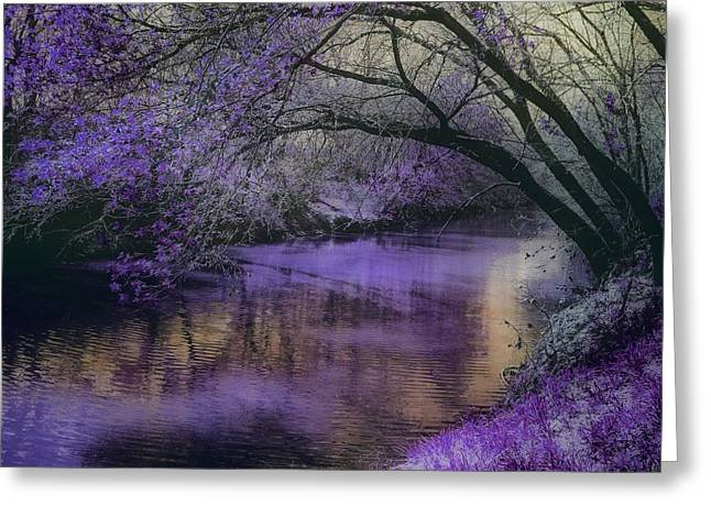 Frosty Lilac Wilderness Greeting Card