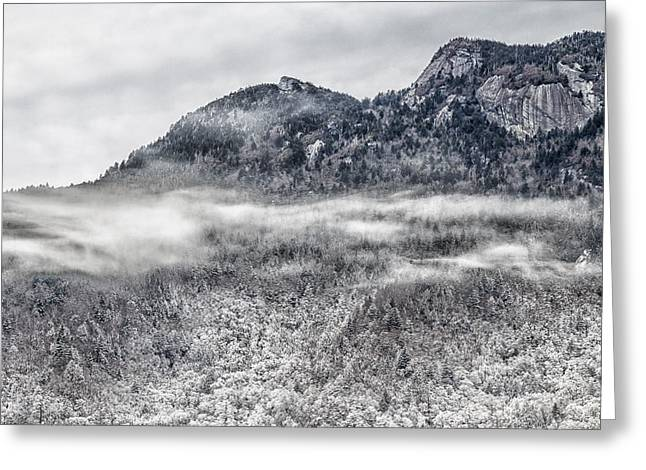 Snowy Grandfather Mountain - Blue Ridge Parkway Greeting Card