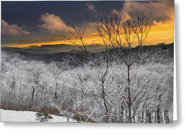 Greeting Card featuring the photograph Frosty Sunset by Ken Barrett