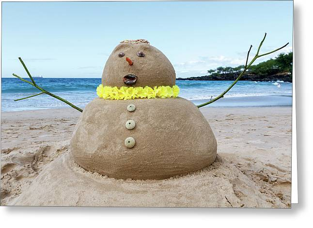 Frosty The Sandman Greeting Card