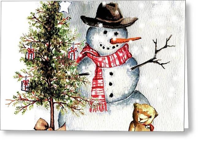 Frosty The Snowman Greeting Card Greeting Card by Heidi Kriel