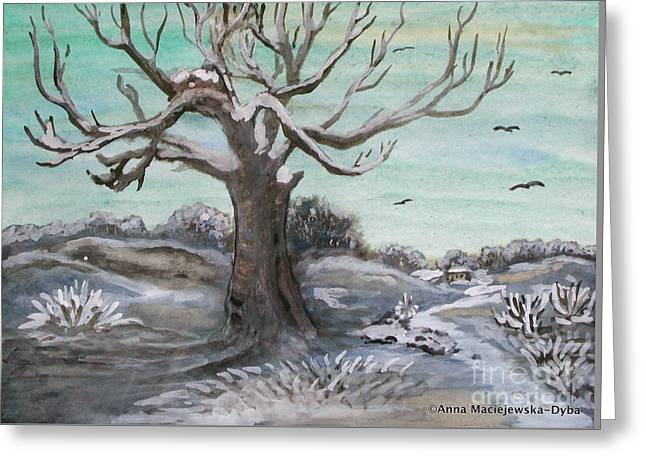 Frosty Winter Day Greeting Card